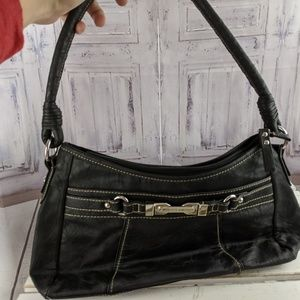 Rosetti black shoulder tote purse bag casual